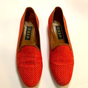 Women's Zalo Red Smoking Shoes Size 9N